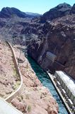 High-Voltage Power Lines from Hoover Dam Royalty Free Stock Photo
