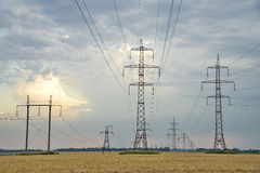 High-voltage power lines. Stock Photos