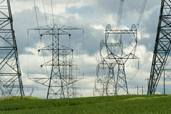 High-Voltage Power Lines Stock Images