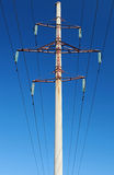 High voltage power lines and pylon Stock Image