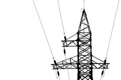 High voltage power lines and pylon. Stock Image