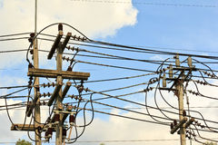 High voltage power lines. Royalty Free Stock Image