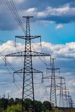 High voltage post or High voltage tower royalty free stock photos