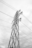 High Voltage Power Lines Tower Royalty Free Stock Photo