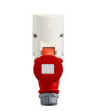 High voltage power plug on white background Stock Photography