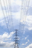 High voltage power pole. Royalty Free Stock Photos