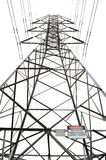 High voltage power pole Royalty Free Stock Photography