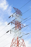High voltage power pole Royalty Free Stock Image