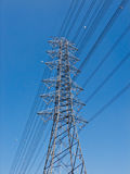 High voltage power pole. Royalty Free Stock Image
