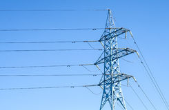 High voltage power pole Stock Photography