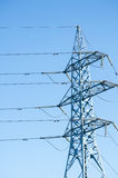 High voltage power pole Stock Image