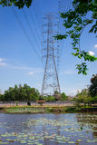 High voltage power post Stock Photography