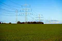 High Voltage Power Post Electric Poles Stock Photos