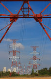 High voltage power pylon Stock Photography