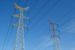 High voltage power pylons Stock Photography