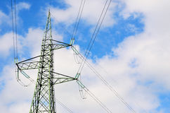 A high voltage power pylons Royalty Free Stock Photo