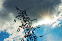 High voltage power pylons Stock Image