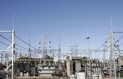 High Voltage Power Station Stock Image