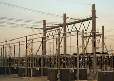 High voltage power station Stock Images