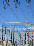 High voltage power substation Stock Photography