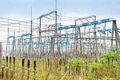 High voltage power substation Royalty Free Stock Photo