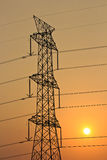 High voltage power tower Stock Images