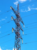 High voltage power tower Royalty Free Stock Photos