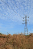 High Voltage power tower line Royalty Free Stock Images