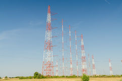 High-Voltage Power Towers Stock Images