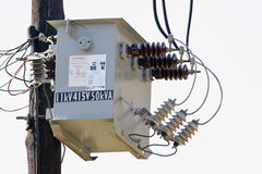 High-voltage power transformer Stock Photos