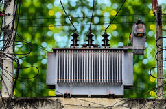 High voltage power transformer Royalty Free Stock Photography