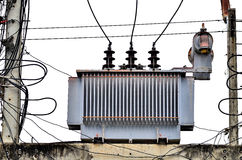 High voltage power transformer Stock Images