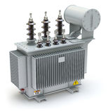 High voltage power transformer stock illustration