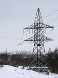 High-voltage power transmission lines Stock Image