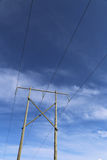 High voltage power transmission lines Royalty Free Stock Images