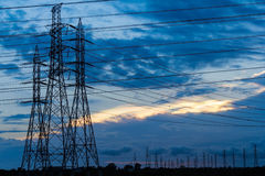 High Voltage Power Transmission Lines And Pylons Royalty Free Stock Images