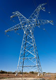 High voltage power transmission tower. A large High Voltage power transmission tower in rural West Texas stock photography