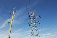 High voltage power transmission tower royalty free stock images
