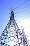 High-voltage power transmission towers Royalty Free Stock Image