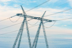 High-voltage power transmission towers Royalty Free Stock Photo
