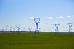 High voltage powerline Stock Photo