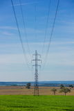 High-voltage powerline Royalty Free Stock Photography