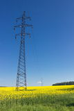High-voltage powerline Stock Images