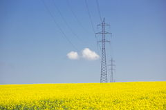 High-voltage powerline Royalty Free Stock Photo