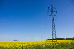 High-voltage powerline Stock Photography