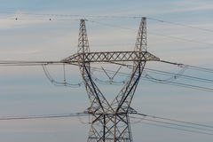 High voltage powerline Royalty Free Stock Photos