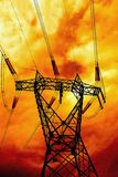High-voltage pylon Royalty Free Stock Image