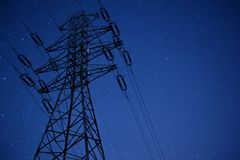 High Voltage Pylon Royalty Free Stock Photography