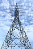 High voltage pylon. High voltage electricity pylon and blue sky Stock Images