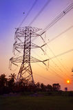 High Voltage Pylon Electricity Stock Photo